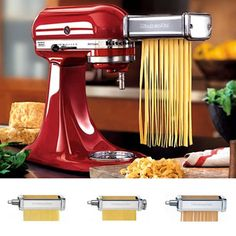 Kitchenaid Pasta Roller Attachment--Make homemade pasta--ravioli and linguine out of almond flour. Great alternative to just using vegetable noodles all the time.