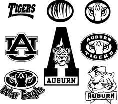 5 Inch Auburn Arena University Tigers AU Logo Removable Wall Decal Sticker Art NCAA Home Room Decor 5 by 2 Inches