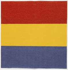 Red, Yellow, Blue. 1951, Ellsworth Kelly, ink on paper and gouache on paper, 7 1/2 x 8 in., USA