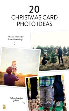 20 trendy family photo ideas that will fill your Christmas card with extra merry this year. #familyPhotos