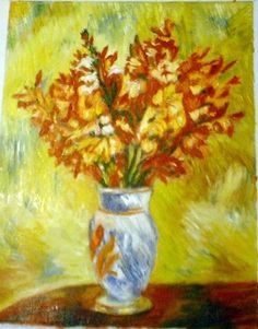 Painting: Still Life Flower In Vase Oil Painting Famous Reproduction