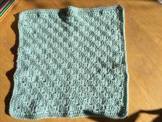 "C2c crochet 12"" square in duck egg style craft DK. Vintage colours for kinship blanket"