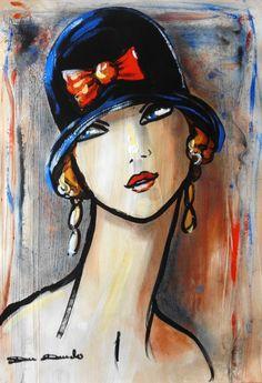 Discover great art by contemporary artist Dam Domido. Browse artworks, buy original art or high end prints. Frida Art, Figurative Kunst, Art Abstrait, Art And Illustration, Whimsical Art, Portrait Art, Face Art, Art Techniques, Painting Inspiration