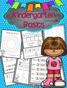 Kindergarten Beginning of the Year Skills