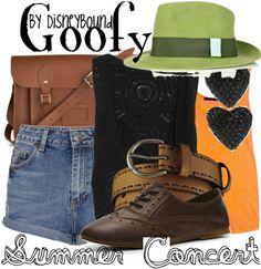summer concert | Disney Bound Goofy