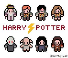 Harry Potter Cross Stitch Pattern (PDF) INSTANT DOWNLOAD