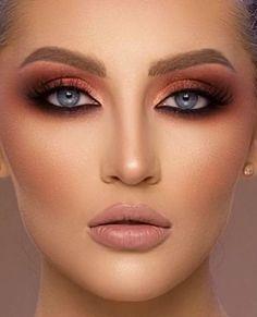 Contouring 😍 makeup steps - Augen Make Up Anleitung Glam Makeup, Beauty Makeup, Eye Makeup, Hair Makeup, Contouring Step By Step, Makeup Step By Step, Contouring Makeup, Makeup Lipstick, Bronzer Makeup