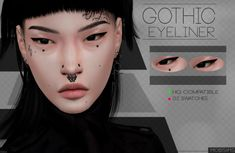 Gothic Eyeliner for The Sims 4 by Mobsims