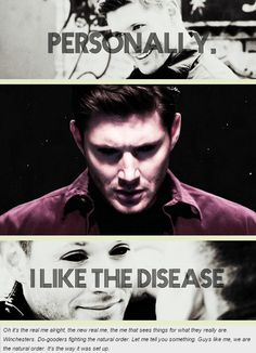 Demon!Dean - Personally, I like the disease