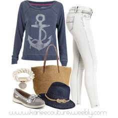 Nautical Fun by karlee-2003 on Polyvore featuring Billabong, 2b bebe, Sperry Top-Sider, J.Crew, Meredith Wendell and Mossimo Supply Co.