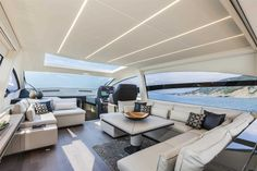 Main Deck #Design - Pershing #Yacht 70 on display at the #MiamiBoatShow 2015…