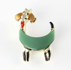 Vintage Thermoset lucite Goat Brooch 1950s jewelry by RMSjewels, $30.00