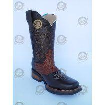 Bota Vaquera Junior Cowboy Rodeo Tib.Miel Choco