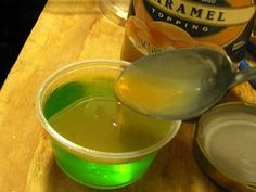 Caramel Apple Jello Shots and a lot of other Halloween recipes at the link - Halloween