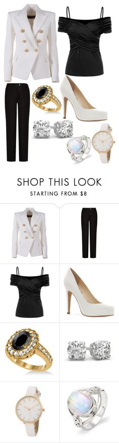 """""""Stella Kinney 3"""" by hannah-graves ❤ liked on Polyvore featuring Balmain, Acne Studios, Jessica Simpson and Allurez"""