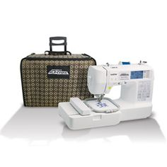 Brother (Exactly the same as Brother except this comes with a carrying case.) Brother Project Runway Computerized Embroidery and Sewing Machine with Included Rolling Carrying Case Project Runway Sewing Machine, Sewing Machine For Sale, Sewing Machines Best, Sewing Machine Reviews, Embroidery Machine Reviews, Computerized Embroidery Machine, Sewing Machine Embroidery, Sewing Stitches, Embroidery Machines