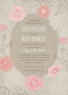 Garden Dreams - Signature White Wedding Invitations - Lady Jae - Sandstone - Neutral : Front