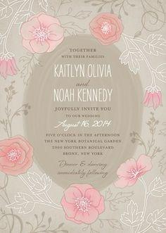 Garden Dreams - Signature White Wedding Invitations - Lady Jae - Sandstone - Neutral : Front
