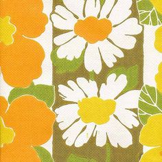 LAST ONE 1960s 1970s Floral suspension Vintage Original Wallpaper