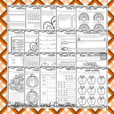 This fall MATH unit is full of  40 no prep printables for the season! Apples, pumpkins, Halloween, and Thanksgiving, it's all here! This unit is geared towards second graders, but can also be used for talented first graders or third graders who may be struggling a bit. This product is meant to be a time saver. Just print! $