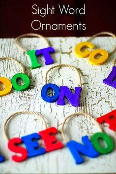 Sight Word Ornaments- Make a learning tree that students can add words to as they learn them. A fantastic motivator!