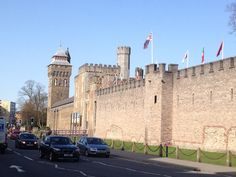 Cardiff Castle, Wales in the sun. March 2014