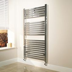 600 x 1200 Beta Heat Square Chrome Heated Towel Rail  - Stainless Steel Bathroom Radiators - Better Bathrooms