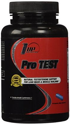 1 UP Nutrition Pro Test, Complete Support for Lean Mass and Muscle Building Specifically Designed for Men, 60 Count ** You can find more details by visiting the image link.