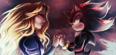 Shadow and Maria never forgetting each other. Shadow The Hedgehog, Sonic The Hedgehog, Shadow And Maria, Sonic Underground, Rouge The Bat, Romantic Love Stories, Sonic And Shadow, Comic Games, Video Game Characters