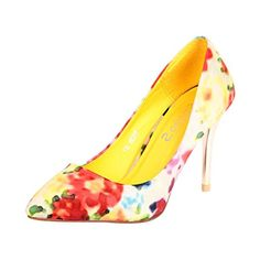 Studio S 883B-Yellow Kitten Heel Pumps