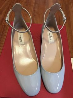 Valentino tango patent ballet pumps new with box Color gray size 36.5IT/6.5US