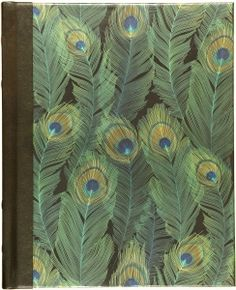 The cover of this wonderful iridescent journal shimmers with realistic peacock feathers.  	 		This bestselling journal also features a classic ''hubbed'' spine of bonded leather from Spain. 	 		Feather pattern endsheets 	 		Complementary interior art 	 		Elegant black ribbon marker 	 		Journal diary provides lightly-lined pages for your personal reflection, sketching, or jotting down favorite quotes or poems. 	 		192 lightly-lined, opaque pages edged in gold 	 		Creamy-smoo...
