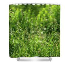 Green Idyll Shower Curtain by Svetlana Iso.  Green idyll by Svetlana Iso     ...How green, green is the grass   After a morning of raining   #SvetlanaIso #SvetlanaIsoFineArtPhotography #Photography #ArtForHome #InteriorDesign #FineArtPrints #Home #Gift #Relax #FengShui #Color  #Green