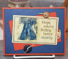 Dungarees Club Scrap Blog Hop card - by Cathy Gray