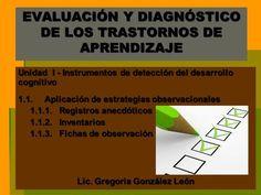 EVALUACIÓN Y DIAGNÓSTICO DE LOS TRASTORNOS DE APRENDIZAJE Unidad I - Instrumentos de detección del desarrollo cognitivo 1.1. Aplicación de estrategias.