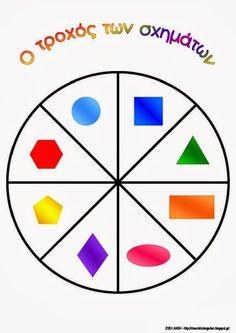 Το νέο νηπιαγωγείο που ονειρεύομαι : Ο τροχός των σχημάτων Math Groups, Scroll Saw Patterns, Cute Doodles, Color Shapes, Child Development, Pre School, Math Activities, Cute Drawings, Kindergarten
