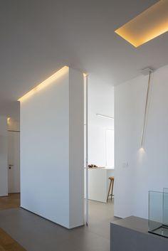 Viabizzuno Light Casa B - Chiarenza Design Case, Lamp Design, Lighting Design, Living Spaces, Living Room, Brick And Stone, Light Project, Minimalism, House Design