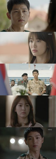 Song Hye-kyo realized that Song Joong-ki was in danger. On the 4th episode of the KBS 2TV drama 'Descendants of the Sun' on the 3rd, Yoo Si-jin (Song Joong-ki) and Kang Mo-yeon (Song Hye-kyo) went out on a date.