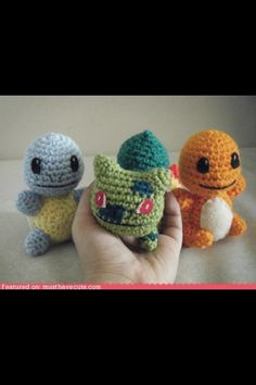 Amigurumi 1st gen. Starters.  I wish I could find a pattern for these! And that I knew how to crochet... >.>