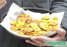 Ecuadorian food: Chifles (fried plantain chips)