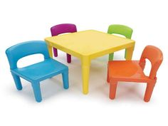 Kids Plastic Table And Chair Set