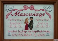 """Mawwaige"" Princess Bride cross stitch - P1000267 by Steotch, via Flickr"