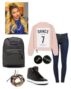 Untitled #148 by jadaxoxo12 on Polyvore featuring polyvore, fashion, style, Studio Concrete, JanSport, Frame Denim and adidas