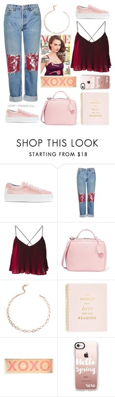 """""""when I missed you still"""" by felicitysparks ❤ liked on Polyvore featuring Chiara Ferragni, Topshop, Mark Cross, Luv Aj, Kate Spade and Casetify"""