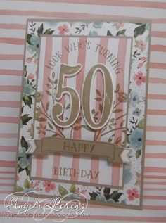 Number of Years Bundle and new Birthday Bouquet DSP coming in the Stampin' Up! 2016 Occasions Catalog.