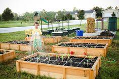 No Dig Gardening, Square Foot Gardening via @Jaden Hair