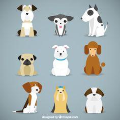 Colección de razas de perro Vector Gratis