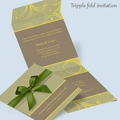 Wedding Invitation Printable Template // by InvitationSpecialist, $19.00