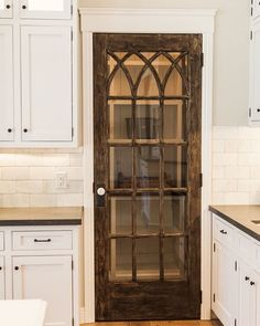 Home Remodeling Farmhouse Upgrade your kitchen with one of these cool pantry door ideas 60 opening. Whether you're loving farmhouse kitchens or want something modern, there's a door for you. Home Kitchens, Farmhouse Kitchens, Dream Kitchens, Modern Farmhouse, Farmhouse Style, Farmhouse Interior Doors, Farmhouse Door, Farmhouse Laundry Room, Farmhouse Sinks