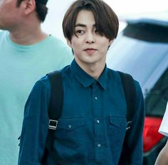 When Xiumin so cute with long hair aww   #exo #xiumin